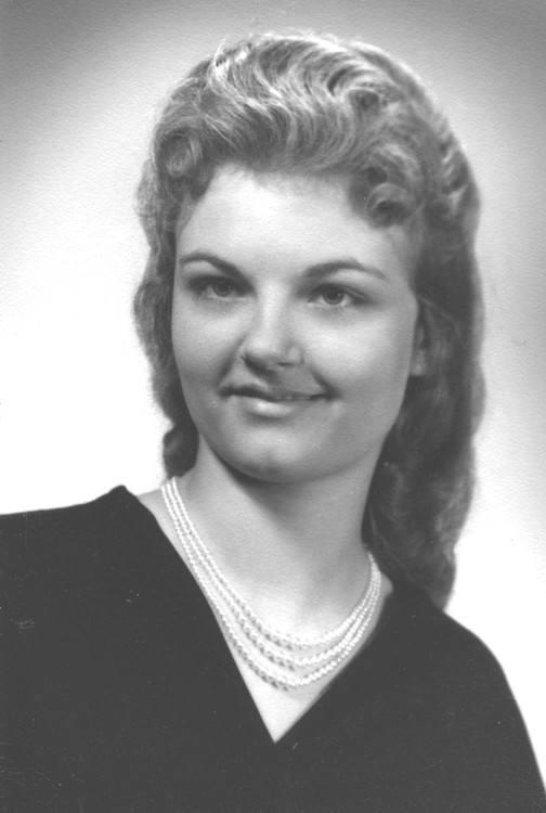 Betty Collins Phillips op jongere leeftijd