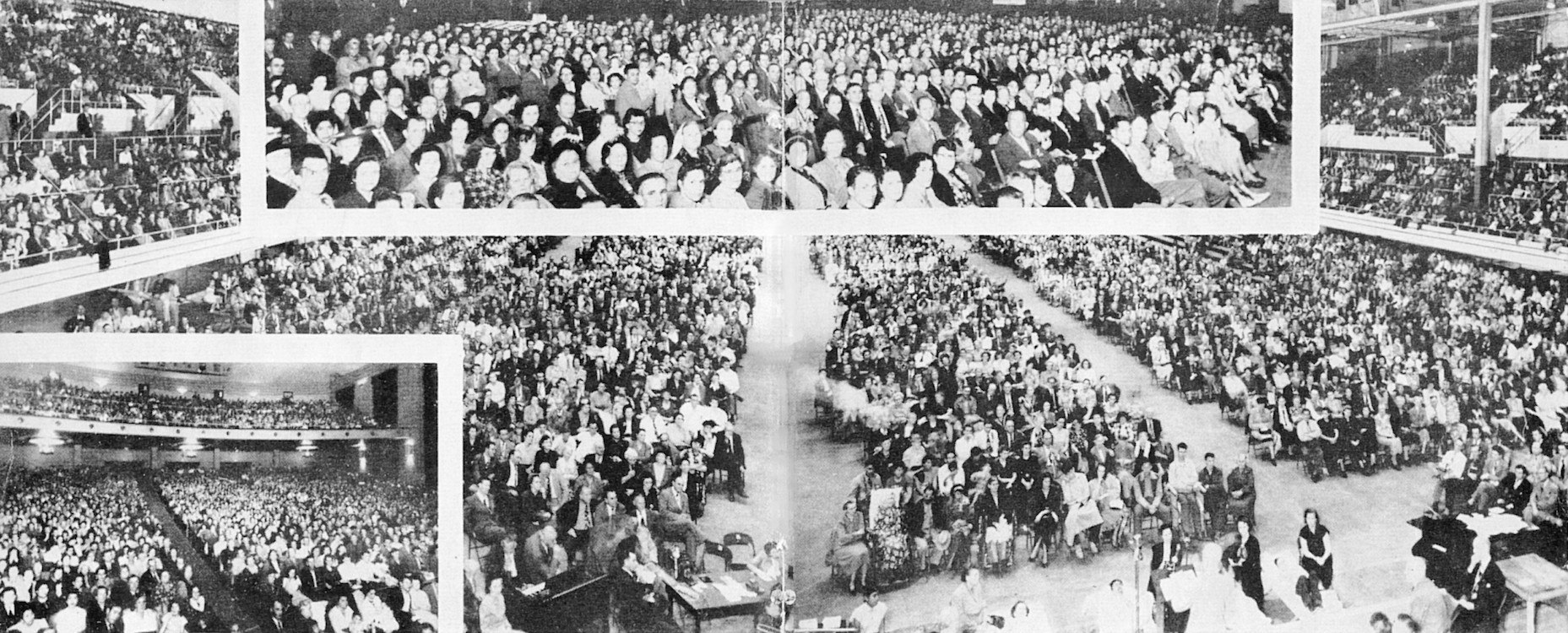 Een overzicht van het gehoord in het Sam Houston Coliseum in Januari 1950