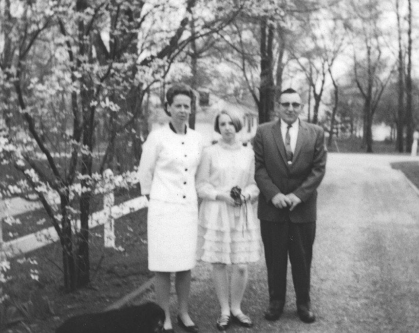 Ralf en Jan May met hun dochter Vicky