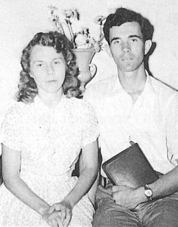 Helene Proctor met haar echtgenoot